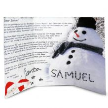 Snowman Letter From Santa